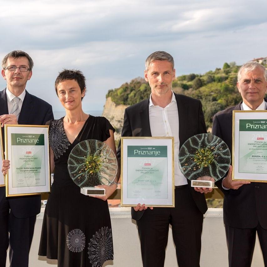 Energetski nagrajenci EN-LITE, Avantcar, Borzen in ŠC Kranj