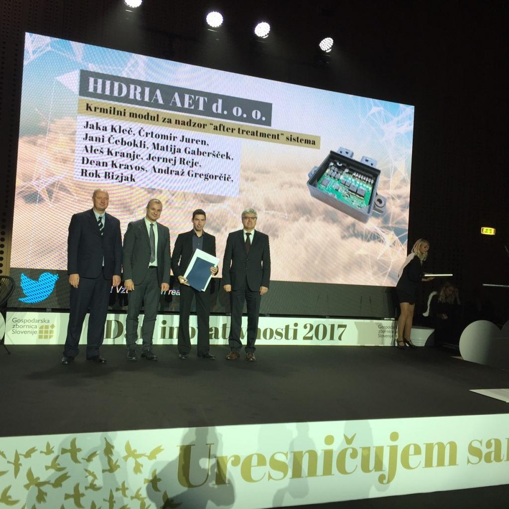 Hidria prejela dve srebrni nagradi za najboljši inovaciji v državi