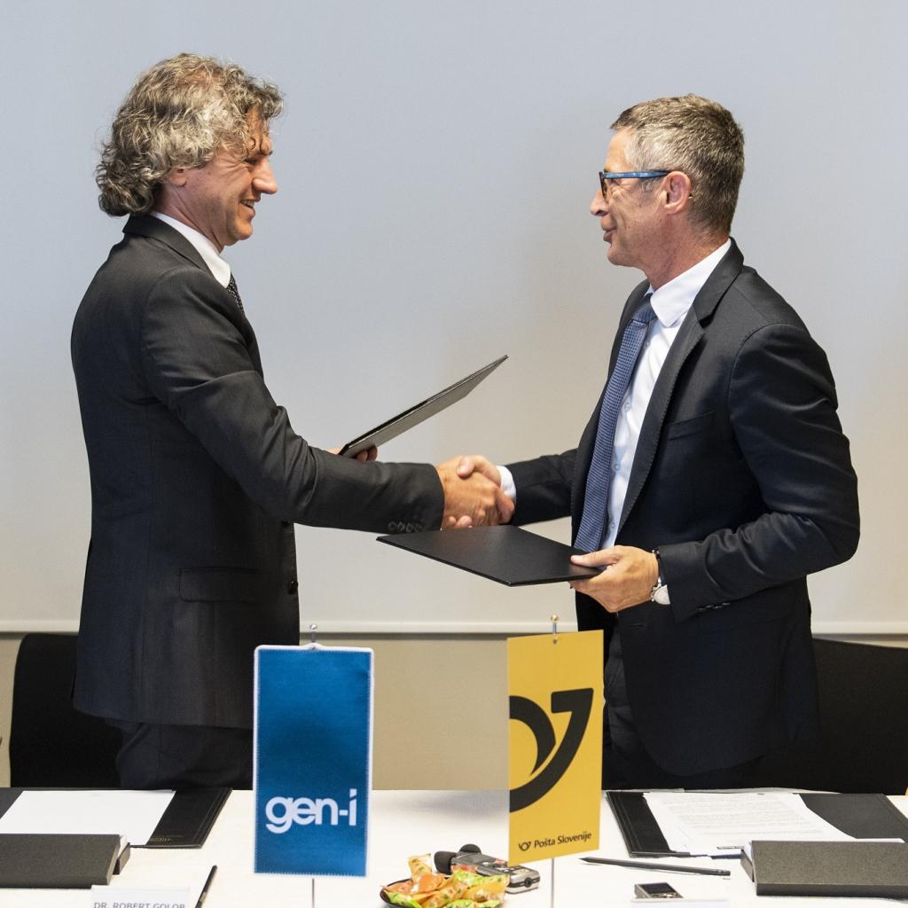 GEN-I in Pošta Slovenije združujeta moči pri ponujanju zelenih dostavnih rešitev