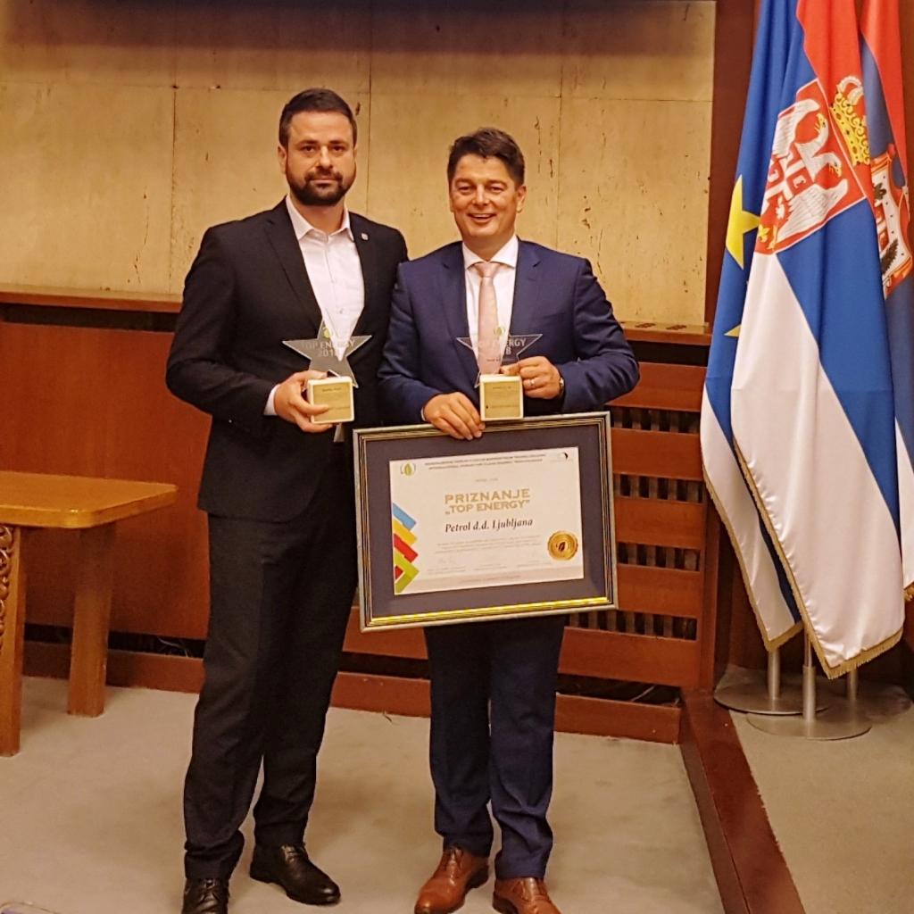 Petrolu nagrada za najuspešnejši projekt s področja energetike v JVE v letu 2018