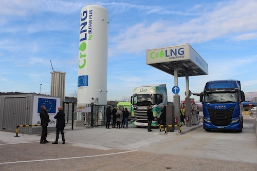 Butan plin odprl prvo polnilnico UZP za tovorna vozila na Hrvaškem