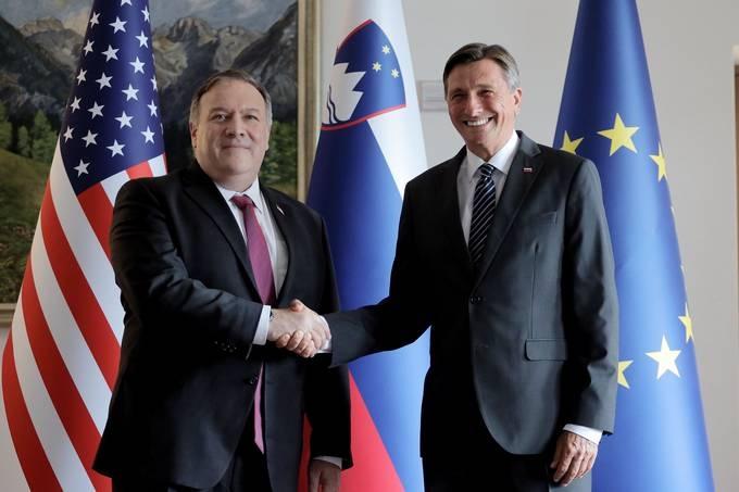 Slovenski državniki z ameriškim državnim sekretarjem Pompeom tudi o (jedrski) energetiki