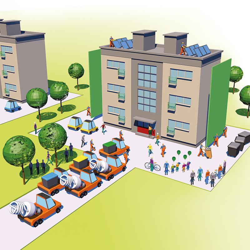 Kar 25 % vseh emisij toplogrednih plinov v Evropi ustvarijo stavbe