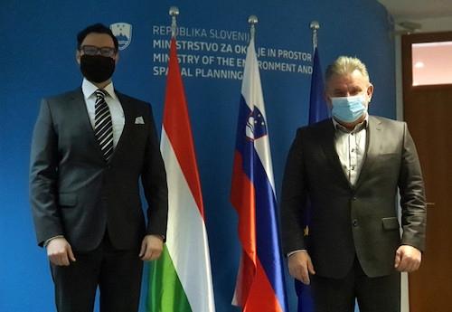 Okoljski minister z madžarskim veleposlanikom tudi o razogljičenju in jedrski varnosti