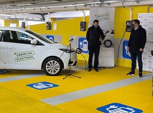 Ljubljanski Citypark z 10 novimi polnilnicami za električna vozila