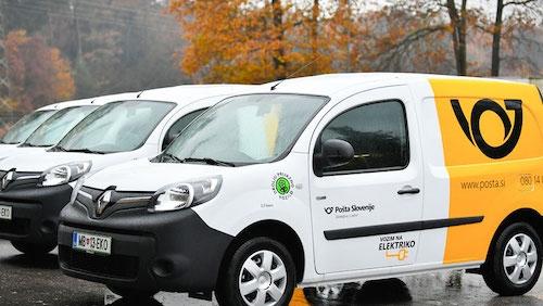 V Pošti Slovenije delajo na vzpostavitvi primerne polnilne infrastrukture za električna vozila